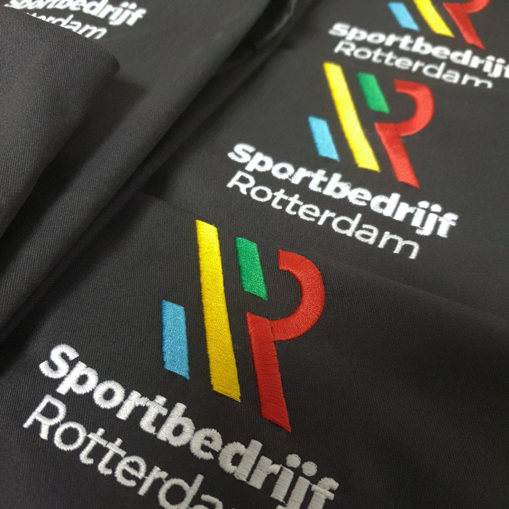 Borduurwerk logo Sportbedrijf Rotterdam