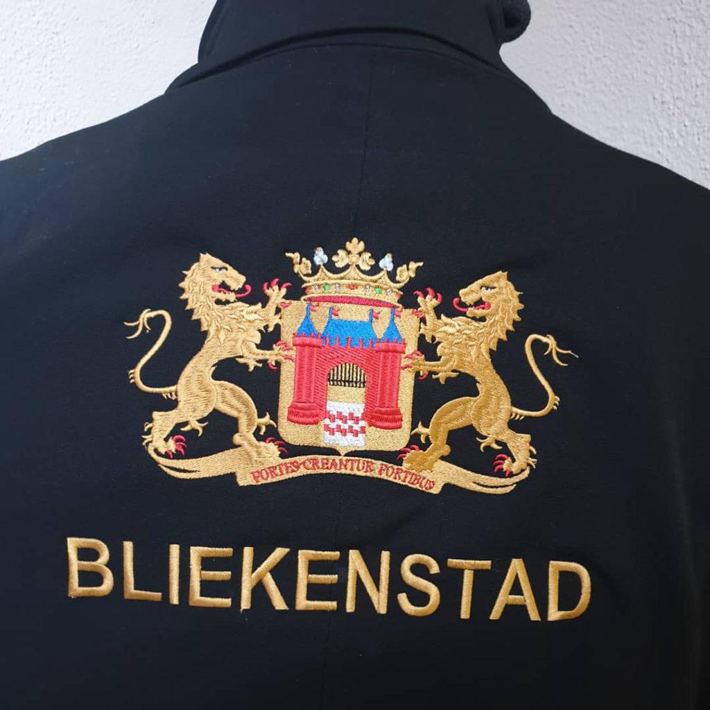 Borduurwerk wapen Gemeente Gorinchem Bliekenstad